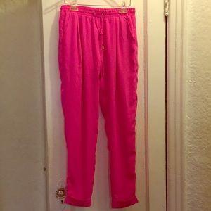 Pink flow pants